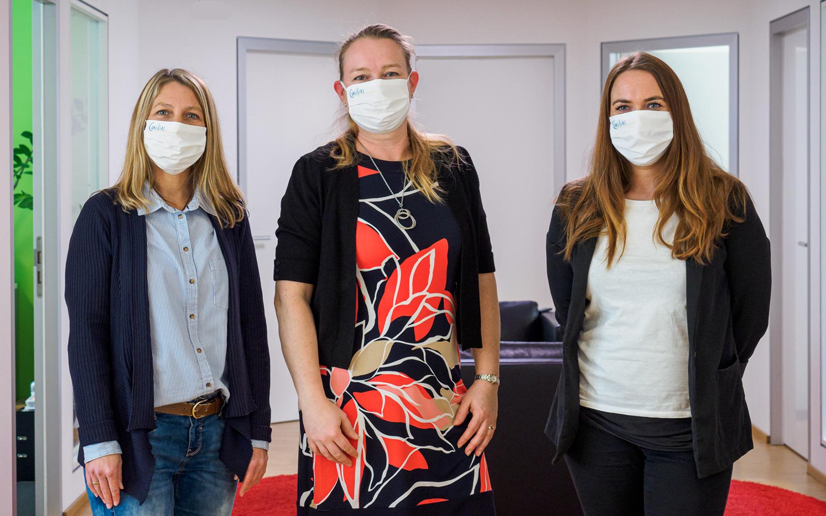 Consilias GmbH: Assistenzteam mit Maske