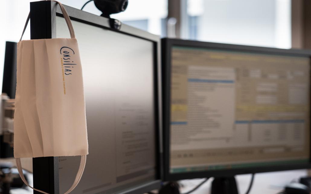 Consilias GmbH: Maske an Bildschirm
